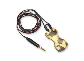 Brass Footswitch with Clipcord - Acid Wash