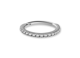 NF CoCr Jewelled Hinged Ring