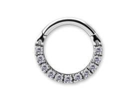 NF CoCr Front Facing Jewelled Hinged Ring