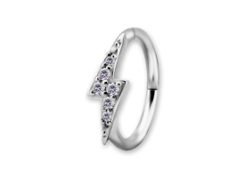 NF CoCr Lightning Jewelled Hinged Ring