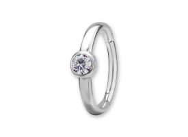 NF CoCr Bezel Set Jewelled Hinged Ring