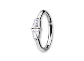 NF CoCr Keystone Jewelled Hinged Ring