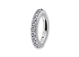 NF CoCr Jewelled Oval Hinged Ring