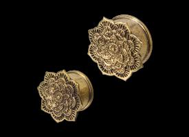 Brass Ear Plug - style 36