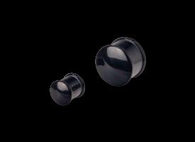 Acrylic Plain Ribbed Plug