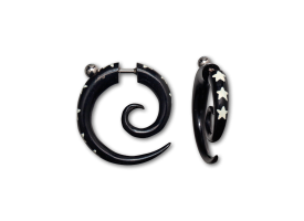 Horn Painted Fake Spiral - style D
