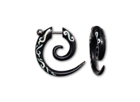 Horn Painted Fake Spiral - style A