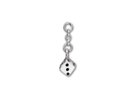 Steel Dice Charm for 1,2 mm Barbell