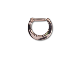 PVD Rose Gold Steel Hinged Septum Ring