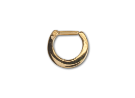 PVD Gold Steel Hinged Septum Ring