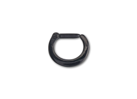 PVD Black Steel Hinged Septum Ring