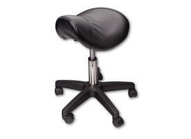 Tattoo Artist Saddle Chair Black