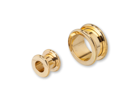 PVD Gold Steel Rounded Flesh Tunnel