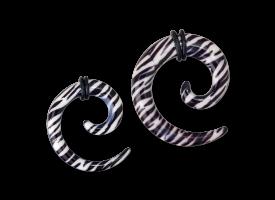 Acrylic Zebra Print Spiral