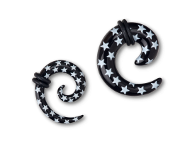 Acrylic White Star Spiral