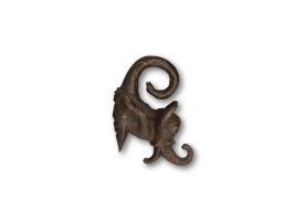 Traditional Bronze Ear Weight - Elephant