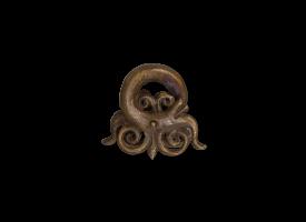Traditional Bronze Ear Weight - Borneo Dragon 2