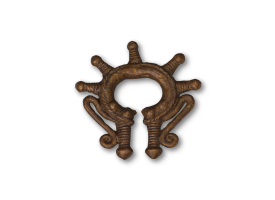 Traditional Bronze Ear Weight - Tribal 2