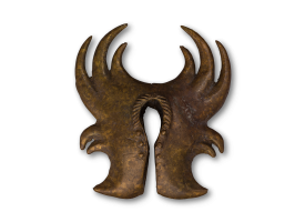 Traditional Bronze Ear Weight - Tribal 7