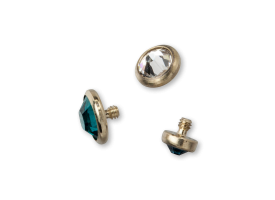 Zircon Titanium Jewelled Disc Attachment