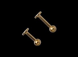 PVD Gold Titanium Labret