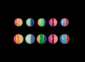 Acrylic Screw on Candy Ball