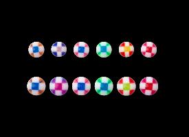 Acrylic Checkered Ball