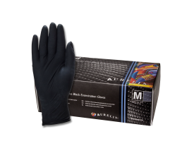 Aurelia Bold Black Nitril Gloves