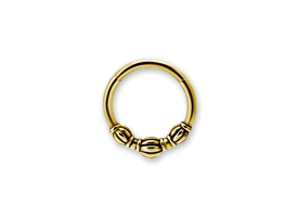 PVD Gold Steel Ethnic Hinged Ring - Style 4