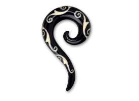 Bone Inlaid Horn Hanging Spiral - style 3