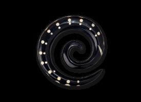 Bone Inlaid Horn Spiral - style 2