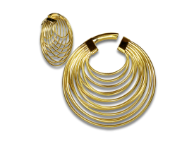 Brass Multiple Hoops Earring - Style 2