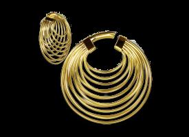 Brass Multiple Hoops Earring - Style 2