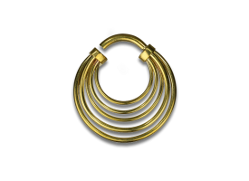 Brass Multiple Hoops Earring - Style 3