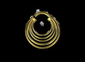 Brass Multiple Hoops Earring - Style 3