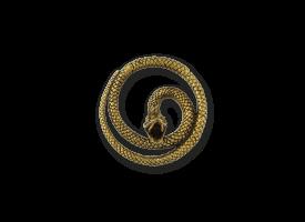 Brass Hinged Ear Weight - Snake