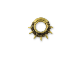 Brass Hinged Ear Weight - Spikes