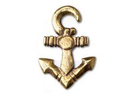 Brass Anchor Ear Weight