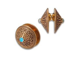 Brass Ear Weight - Style 6