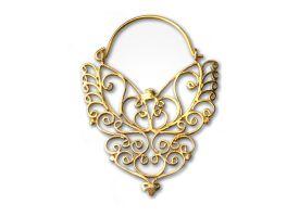 Brass Hoop Earring - style 6
