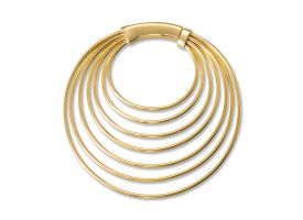 Brass Multiple Hoops Earring