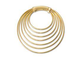 Brass Multiple Hoops Earring