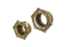 Brass Ear Plug - style 1