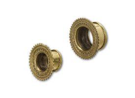 Brass Ear Plug - style 2