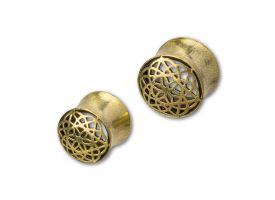 Brass Ear Plug - style 16