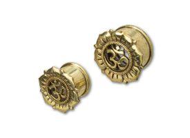 Brass Ear Plug - style 21