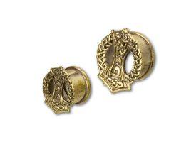 Brass Ear Plug - style 23