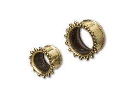 Brass Ear Plug - style 24