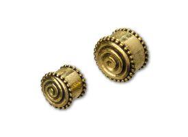 Brass Ear Plug - style 26