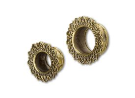 Brass Ear Plug - style 27